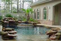 pools waterfalls water features