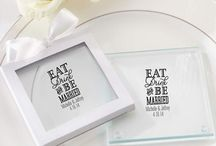 Personalized Glass Coasters for Weddings / Practical and useful wedding favors