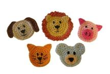 Crochet Applique Shapes and Animals