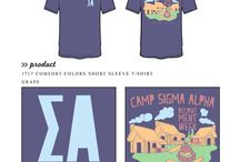 Sigma Alpha / Sigma Alpha custom shirt designs #sigmaalpha #sa  For more information on screen printing or to get a proof for your next shirt order, visit www.jcgapparel.com