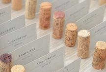 wine cork wedding decorations