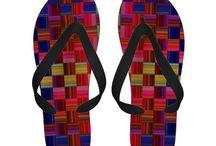 Designer Flip Flops / Unique flip-flops by independent artist and designers. / by Artform The Heart