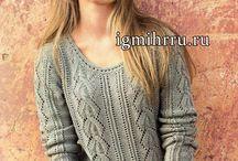 красивые свитера, кофточки,узоры