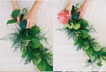 DIY garlands, wreaths
