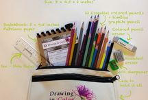 Botanical Drawing Art Supplies - Recommended by Wendy Hollender / This board includes essential supplies recommended by botanical artist Wendy Hollender. These are all the tools you will need to draw beautiful botanicals in colored pencil and watercolor.