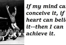 Inspirational Quotes From Muhammad Ali / Muhammad Ali inspired millions of people throughout his life and career.  He certainly was never at a loss for words!
