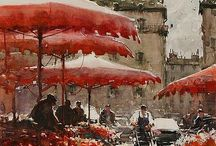 painting - watercolours - joseph zbukvic