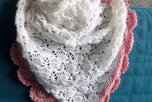 Czapki, szale, kominy, chusty / Crochet hats, scarves