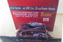 Rakitan Kit Aktif Speaker Tda2030a Stereo Support  Mp3 Usb Fm