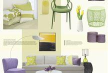 CONCEPT BOARDS / návrhy interiérů