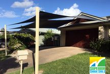 Twin Overlapping Shade Sails / Shade Sails Solutions, Installation & Repair - Brisbane, Gold Coast and Ipswich. Superior Shade Sails structures are made by industry tradesmen that are licensed with the QBCC.