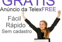 Poste aqui seus anúncios Telexfree / Poste seus anúncios da TelexFREE de forma rápido, fácil e GRÁTIS..  http://www.postandogratis.com/  Cadastre-se na TelexFREE: www.telexfree.com/rendadeelite