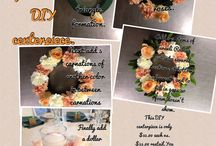 DIY Centerpieces / Easy and affordable DIY Centerpieces. All designs shown are property of Simply Flowers Fresno.