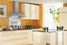 Walls of The Kitchen in Orange