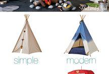 cabana de tecido / Tendas