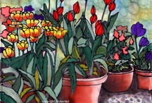 BOUQUET OF FLOWERS - NAIVE ART