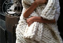 Loopy Mango Knitwear and Home Decor / Super chunky knits made with Big Loop Yarn - a Loopy Mango original.  Chunky knit blankets, throws, rugs and garments knit on giant knitting needles.  All hand made in NYC.
