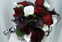 Black baccara rose Wedding bouquet real by BrideinBloomWeddings