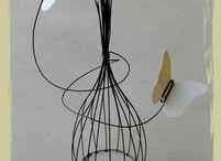 fil de fer / wire / créations en fil de fer / by Gédane