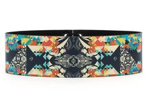 Belt 8 cm - Free Decorative / Women Leather Belt, Limited Edition Designer Leather Belt COLOURS OF MY LIFE - Limited Edition wearable art signed by Anca Stefanescu.
