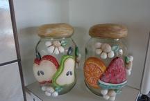 frascos decorados porselanicron
