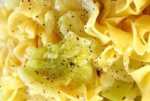 fried cabbage with egg noodles