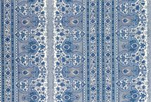 Pretty Fabric {blue & white}