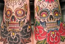 Feet Sugar Skull tattoo