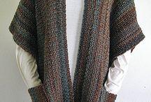 shawl met zakken