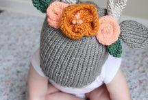 Вязаные детские шапки