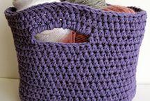 crochet basket / horgolt tárolók
