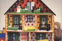 Doll house plastic canvas
