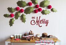 decoración paredes navidad