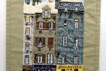 Applique - houses