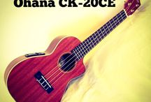 Ohana Ukulele CK-20CE / Rawk n Roll people. The Ohana CK-20CE has an active battery powered pickup and EQ for when you need to be amped up.  Solid Mahogany wood top. Concert scale.