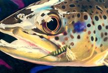 Brown Trout Fish Art / Brown Trout fish artwork by various fish artists.