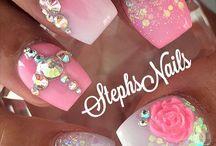 Pink nail art / Pink nail art