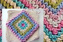 quadrado em crochet