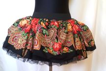 Sewing and knitting / Hand made clothes and accessories in modern Slavic style