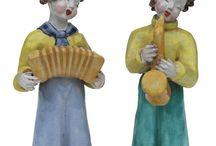 Hungarian secessionist ceramic figures