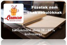 Füzetek nem csak nebulóknak / http://www.ajandek.shop.hu