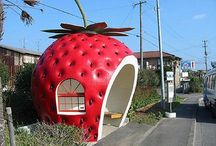 Crazy Fruit / Who knew? Fruit themed buildings, fruit sculptures... so much crazy fruit!
