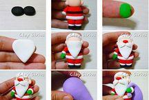 Papa Noel en Ceramica en frio