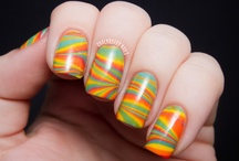 Nails - Water Marble