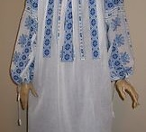 Hand embroidered Romanian blouses