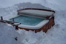 Hot Spring Spas in the Winter / Photos of Hot Spring Spas in the snow! Most Hot Spring owners dig their spas out before they dig their driveways out!