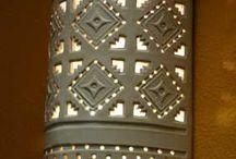 Lighting / Handmade clay lighting fixtures suitable for indoor or outdoor use.