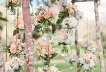 Rustic Wedding / rustic wedding, rustic, wood, natural, country wedding inspiration, outdoor wedding, tree branches, flowers, lace, pearls, wood, naked cake, greenery