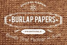 BURLAP PAPERS / DIGITAL PAPERS - BURLAP PAPERS BY DIGITAL PAPER SHOP