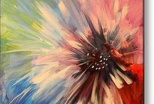 Fleurs peintes